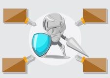 Vetor do cofre forte de Security Protect Guard do cavaleiro Ilustração do Vetor