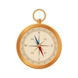 Vetor do compasso Projeto retro da rosa do vento Ilustração isométrica do vetor 3d liso Fotos de Stock Royalty Free