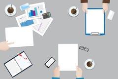Vetor do conceito da reunião de negócios ilustração stock