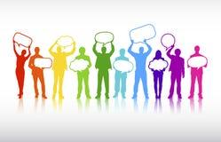 Vetor do conceito das bolhas do discurso das comunicações empresariais ilustração royalty free