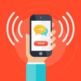Vetor do conceito de uma comunicação Imagens de Stock Royalty Free