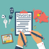 Vetor do conceito do divórcio Fotografia de Stock