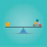 Vetor do conceito do equilíbrio das escalas Fotografia de Stock