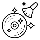 Vetor do ?cone do CD ilustração stock