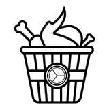 Vetor do ?cone do frango frito ilustração do vetor