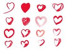 Vetor do coração Foto de Stock