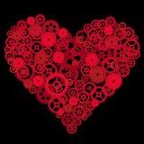 Vetor do coração da engrenagem Fotografia de Stock Royalty Free