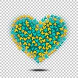 Vetor do coração das borboletas Imagem de Stock Royalty Free