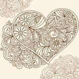 Vetor do coração do Henna do Doodle Fotografia de Stock Royalty Free