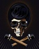 Vetor do crânio da estrela do rock Fotografia de Stock Royalty Free