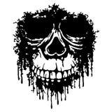 Vetor do crânio de Grunge Imagens de Stock