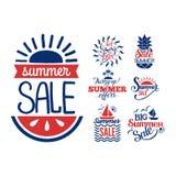 Vetor do crachá da venda do verão Imagem de Stock