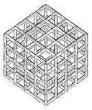 Vetor do cubo da caixa da gaiola Imagem de Stock