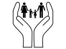 Vetor do cuidado da família Fotografia de Stock Royalty Free