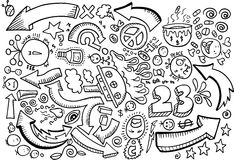 Vetor do desenho de esboço do Doodle Imagem de Stock