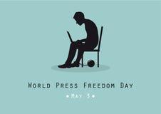 Vetor do dia da liberdade de imprensa do mundo Foto de Stock Royalty Free