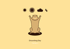 Vetor do dia de Groundhog Fotografia de Stock