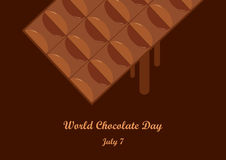 Vetor do dia do chocolate do mundo Imagem de Stock Royalty Free