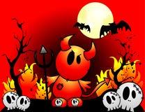 Vetor do diabo de Halloween ilustração royalty free