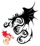 Vetor do dragão Fotografia de Stock Royalty Free