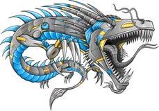 Vetor do dragão do Cyborg do robô Foto de Stock Royalty Free