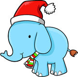Vetor do elefante do Natal Foto de Stock Royalty Free