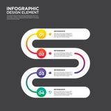 Vetor do elemento do projeto da disposição do molde do relatório comercial de Infographic Foto de Stock Royalty Free