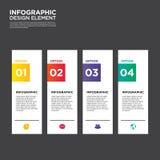 Vetor do elemento do projeto da disposição do molde do relatório comercial de Infographic Imagens de Stock Royalty Free