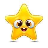 Vetor do emoticon da estrela Imagem de Stock
