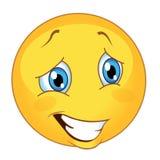 Vetor do Emoticon ilustração de sorriso bonito do vetor do emoji ilustração stock