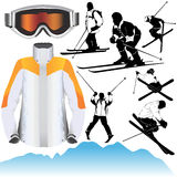 Vetor do esqui Fotografia de Stock