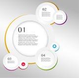 Vetor do estilo do origâmi do círculo de Infographics do negócio  Imagens de Stock Royalty Free