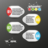 vetor do estilo do papel de 3D Infographic Fotografia de Stock Royalty Free