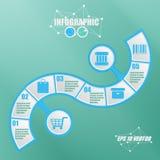 vetor do estilo do papel de 3D Infographic Imagens de Stock Royalty Free