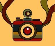 Vetor do estilo do vintage da câmera Fotografia de Stock Royalty Free