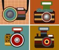 Vetor do estilo do vintage da câmera Imagem de Stock