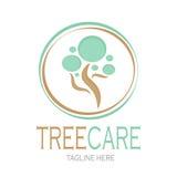 Vetor do estoque do logotype do cuidado da árvore Fotos de Stock Royalty Free