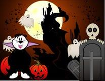Vetor do fantasma dos desenhos animados de Halloween Imagens de Stock