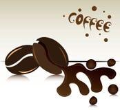 Vetor do feijão de café Imagem de Stock Royalty Free