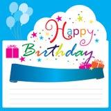 Vetor do feliz aniversario Imagem de Stock