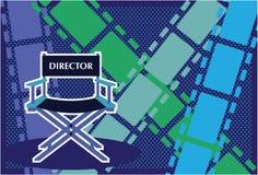 Vetor do filme da cadeira dos diretores Fotos de Stock