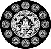 Vetor do fundo da Buda Fotografia de Stock Royalty Free