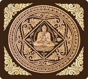 Vetor do fundo da Buda ilustração royalty free