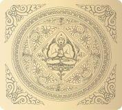 Vetor do fundo da Buda do esboço ilustração royalty free