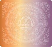 Vetor do fundo da Buda do esboço ilustração stock