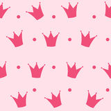 Vetor do fundo da princesa Crown Seamless Pattern Fotos de Stock
