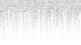 Vetor do fundo do código binário Fundo preto e branco com dígitos na tela ilustração do vetor