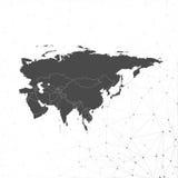 Vetor do fundo do mapa de Eurasia, ilustração para Fotos de Stock