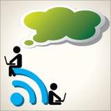 Vetor do fundo do símbolo de Wifi Foto de Stock Royalty Free