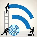 Vetor do fundo do símbolo de Wifi Fotos de Stock